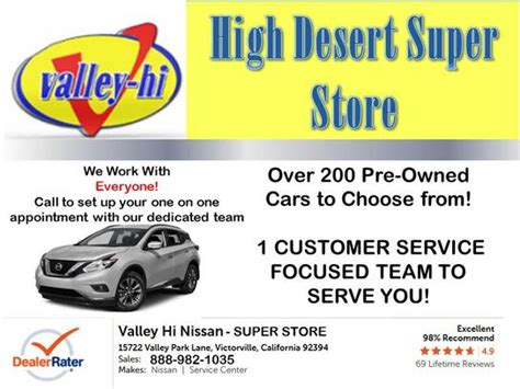 valley hi nissan victorville ca valley hi nissan car dealership in victorville ca 92394