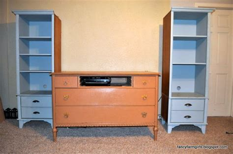 How To Make A Dresser Into A Bookshelf by Turning An Dresser And Bookshelves Into A Media Center