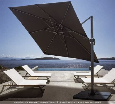Parasol Rectangulaire Inclinable Pas Cher by Prix Parasol Jardin Inclinables Rectangulaires D 233 Port 233 S