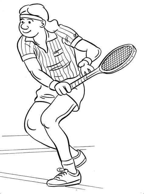imagenes de niños jugando tenis para colorear dibujo colorear tenis