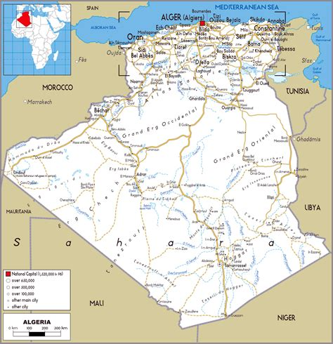 map of algeria cities algeria detailed political and road map detailed