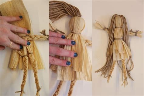 corn husk doll diy diy corn husk flower child doll