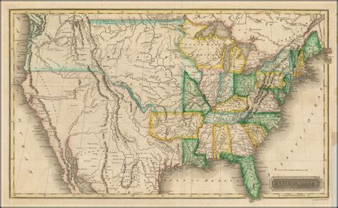 map of united states in 1820 united states territory 1820 map usa america