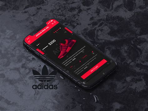 adidas shoes app concept ui for ios