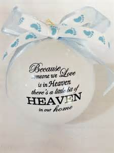 infant loss ornaments because someone we is in heaven infant loss