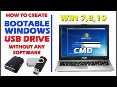 how to make a software how to create a bootable usb drive without using any