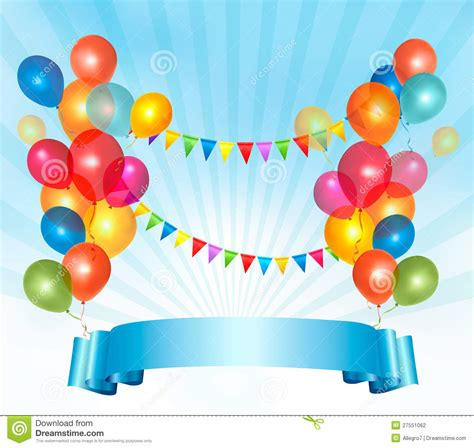 happy birthday balloon design happy birthday background with colorful balloons stock