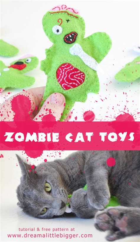 Zombie Cat Tutorial | 17 best images about diy homemade cat toys on pinterest