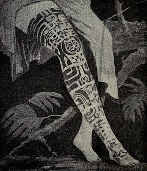 french tribal tattoos the tattooed leg of vaikehu of the marquesas