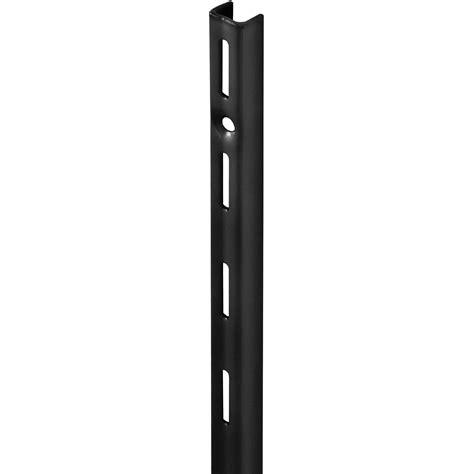 Adjustable Shelf Track by Single Slot Upright Black 495mm Mastershelf