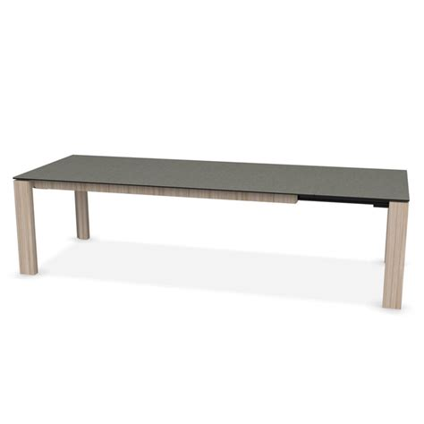 Grey Glass Dining Table Calligaris Omnia Glass Extending Dining Table Lead Grey Top