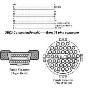 mercedes benz 38 pin to 16 pin obd obd2 diagnostic adapter