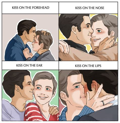 Cute Gay Memes - klaine cute kiss meme by yu oka on deviantart