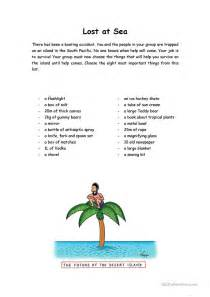 Lost At Sea Exercise Essays by Lost At Sea Worksheet Free Esl Printable Worksheets Made By Teachers