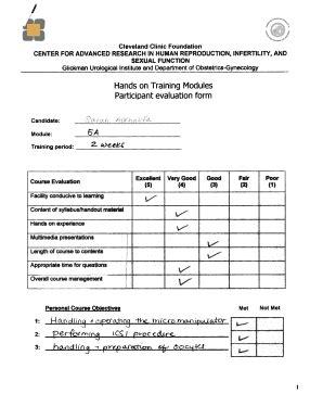 Participant Evaluation Form Templates