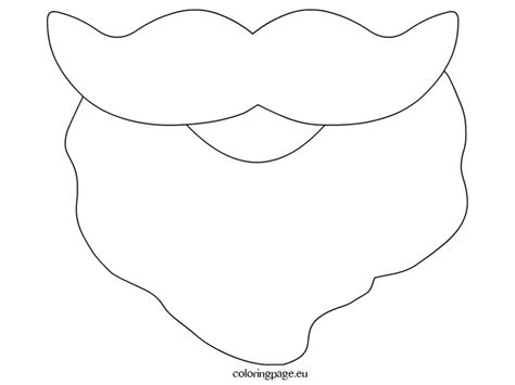 printable santa face template 7 best images of printable santa claus beard santa claus