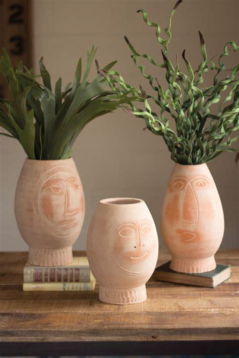 set   clay face pots