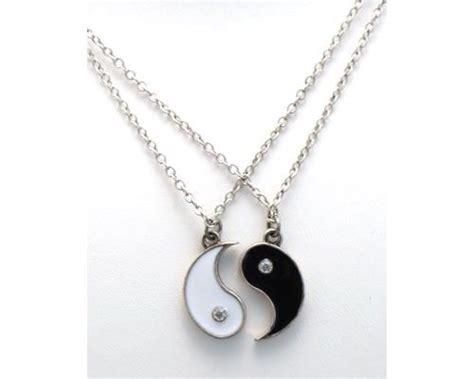best friends ying and yang yin rhinestones 2 pendants 2