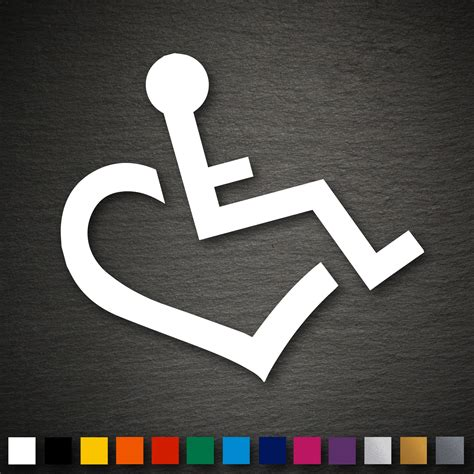 Aufkleber F Rs Auto Rollstuhl by 14269 Rollstuhl Aufkleber Herz 92x90mm Rolli