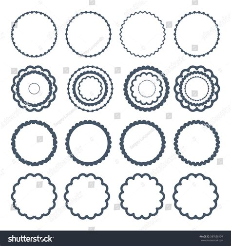 the images collection of vector round label victorian round vintage big set decorative round frames vector stock vector