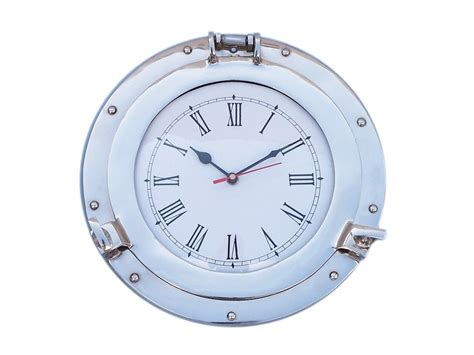 chrome theme clock wholesale chrome deluxe class porthole clock 12 quot model