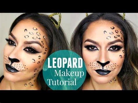 leopard makeup tutorial sexy leopard cheetah halloween makeup tutorial youtube