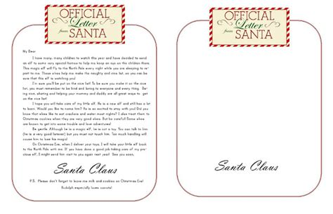 Official Letter From Santa Thistle Dear Santa Some Merry Elves And Free