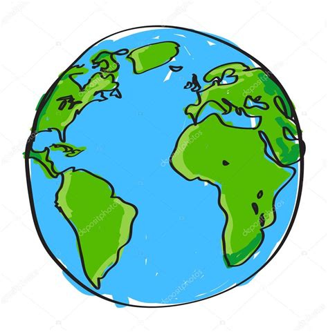 doodle earth earth stock vector 169 pockygallery 13443542