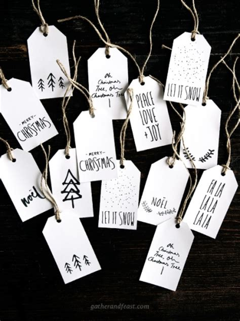 free christmas gift tags gather feast