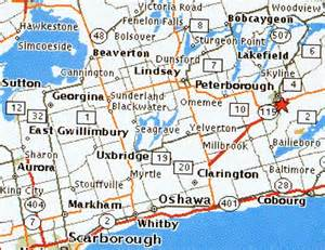 peterborough canada map map of peterborough ontario peterborough is located