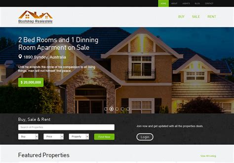 templates bootstrap real estate bootstrap realestate the bootstrap themes