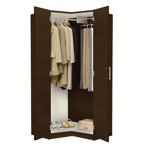 Armoire With Hanging Space Alta Corner Wardrobe Closet Free Standing Corner Closet