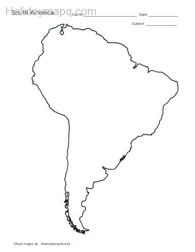 South And America Map Outline by Free Map Of America Holidaymapq