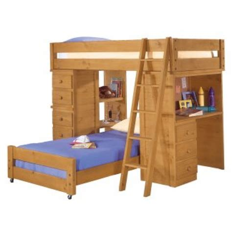 bunk bed desk combo wood wooden american woodcrafters high society plans pdf
