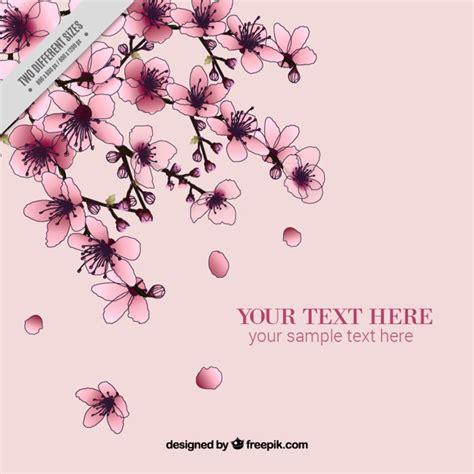 fiori di cigliegio rosa fiori di ciliegio sfondo scaricare vettori gratis