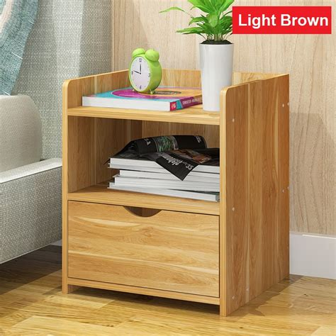 Folding Bedside Shelf by Solid Wood 1 Drawer Bedside Table Folding Bedroom Storage