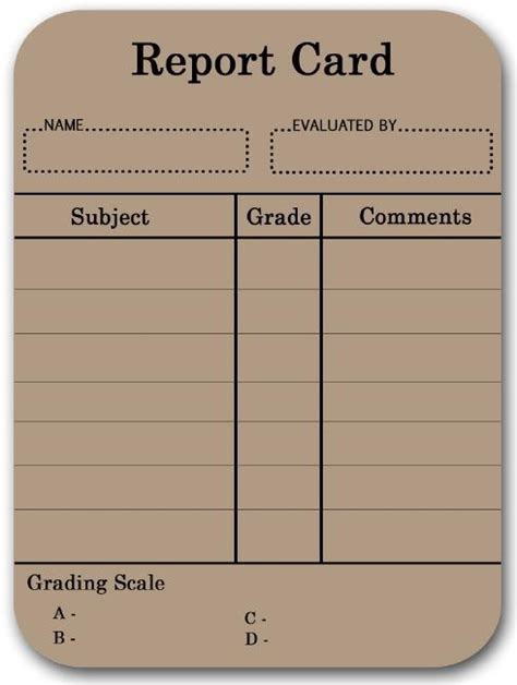 blank class report card template 17 best images about report cards on behavior