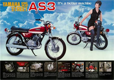 yamaha brochure as3 125 1971 1972 sales catalog