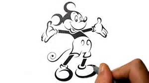 how to draw mickey mouse tribal tattoo design style youtube