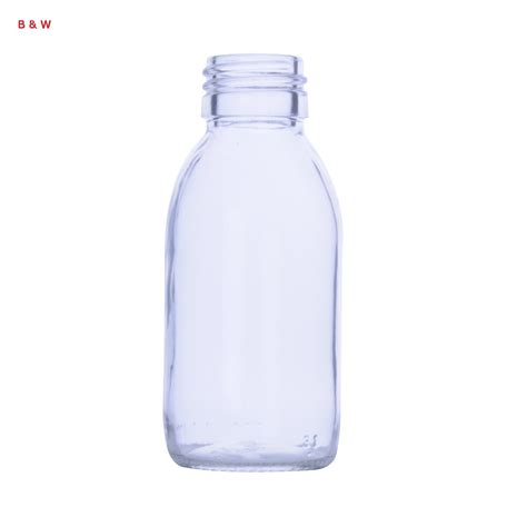 clear glass syrup bottle botol sirup kaca bening