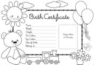 build a birth certificate template free coloring pages of certificate of adoption