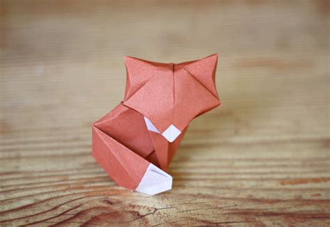 Origami Fox Tutorial - another origami fox how about orange