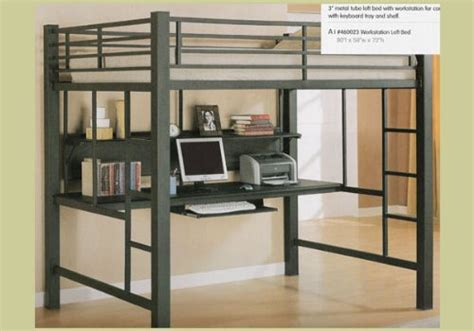 Cool Loft Beds With Desk Underneath Bed With Computer Desk Underneath