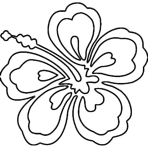 Hawaiian Flowers Coloring Pages hawaii flower coloring page coloring home