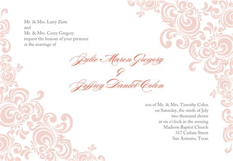 wedding flyer template microsoft word templates