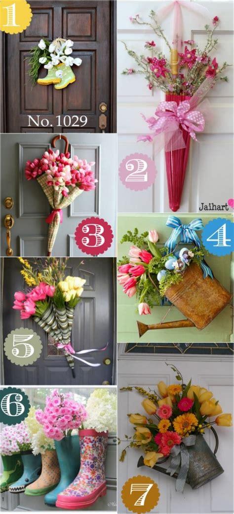 creative front door decor ideas   wreath