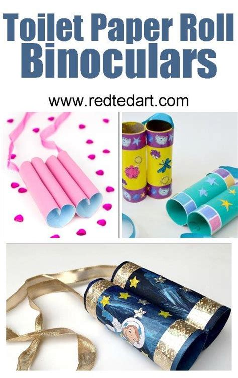 Free Toilet Paper Roll Crafts - toilet paper roll binoculars ted s