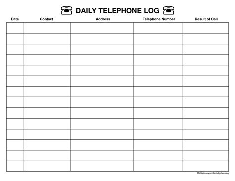 top 5 resources to get free call log templates word