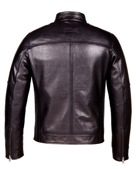 Genuine Leather Jacket designer biker black leather jacket mens genuine leather