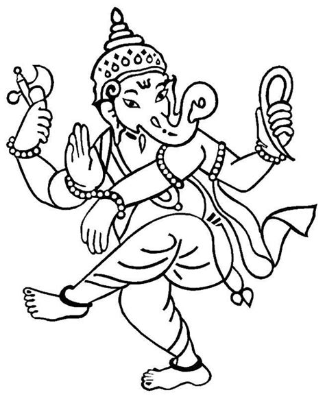 dancing elephant coloring pages coloring pages hindu gods ganesha drawings all about